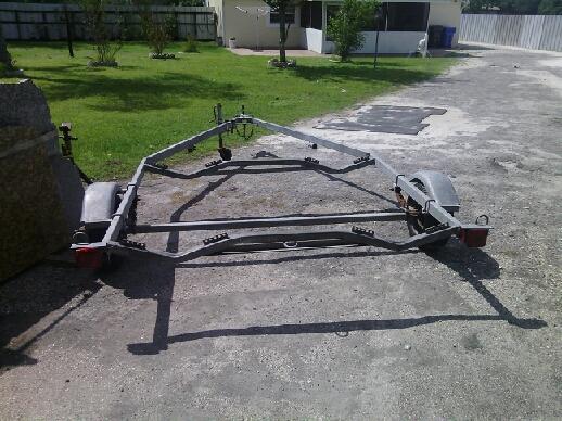 Welded steel trailer