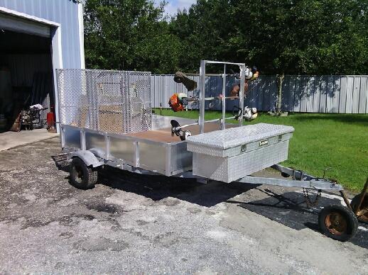 Custom fabricated trailer