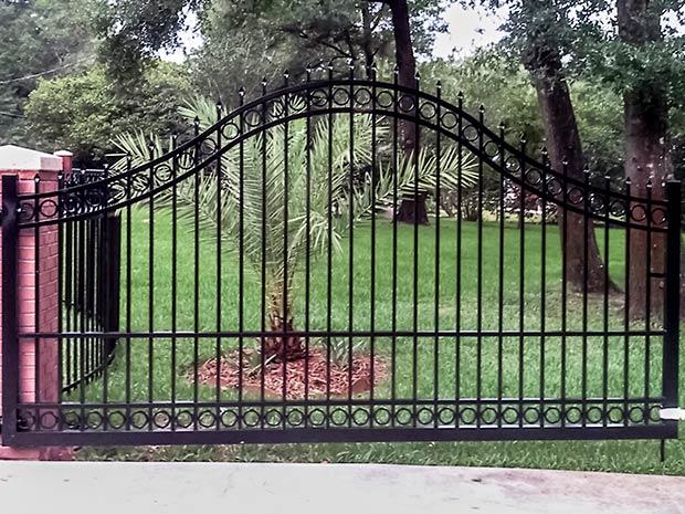 Aluminum entrance gate