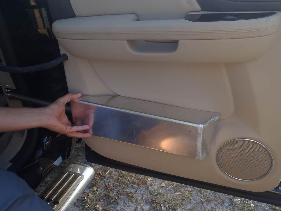 Custom welded cover for door actuator